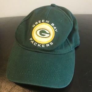 Vintage NFL Green Bay Packers hat Velcro Adjust